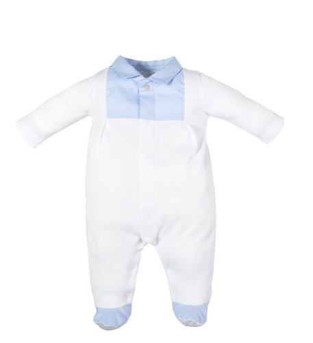 Laranjinha Baby Boys Gingham Baby Grow
