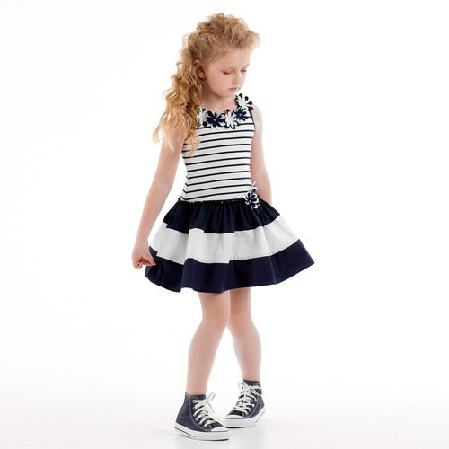 Kate Mack & Biscotti Girls Blue & White Dress