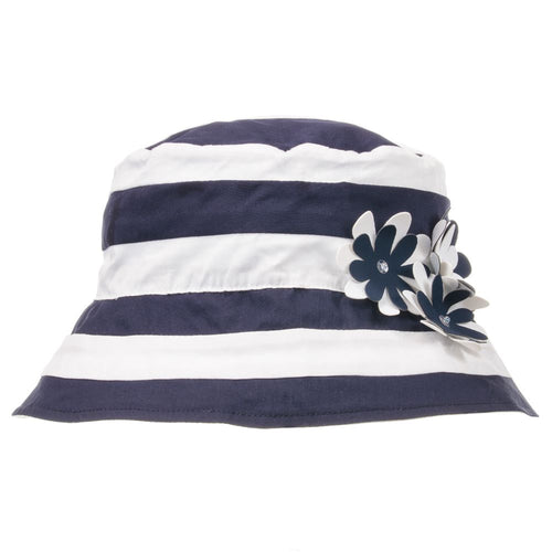 Kate Mack & Biscotti Girls Navy Blue & White Hat