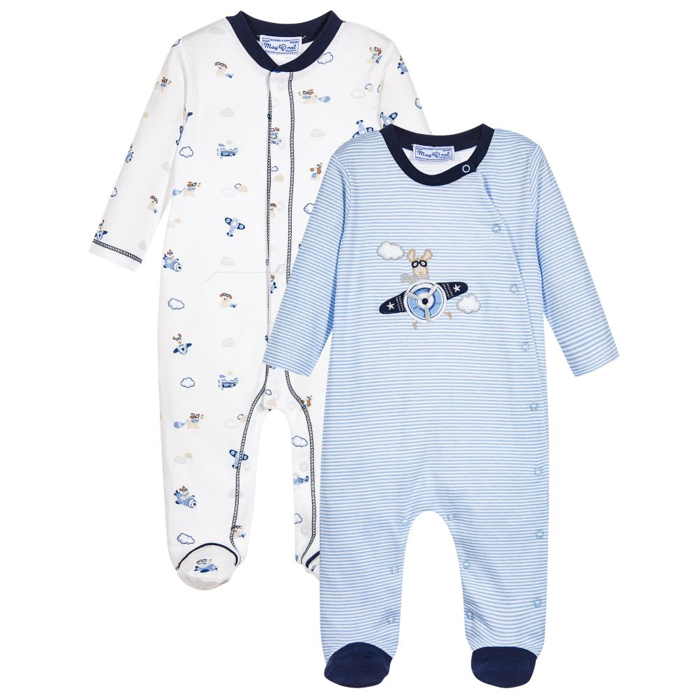 23c4fbbce1e7c Mayoral Baby Boys Pale Blue Babygrows (2 Pack) – NolanJones ...