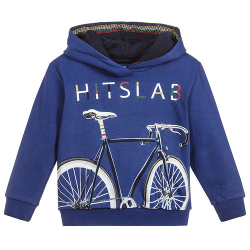 Mayoral Boy's Blue Cotton Hoodie