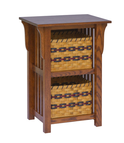 Millwood 2-Basket Upright Mission Shelf