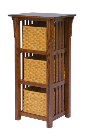 Millwood 3 Basket Upright Mission Shelf 85-9