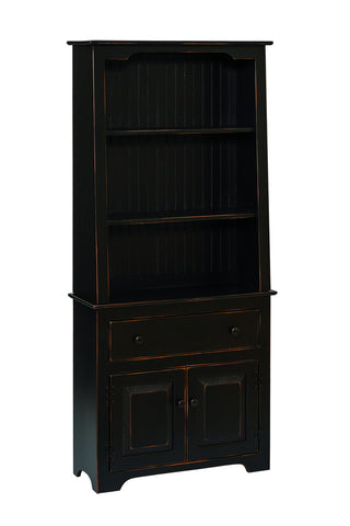 Pine Large Stepback Hutch