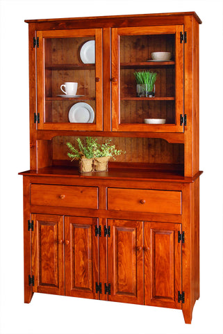 Pine China Hutch with Glass #29G