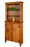 Pine Jelly Cupboard with Hutch