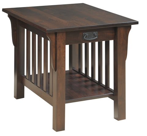 Millwood 85-86 Collection End Table with Drawer