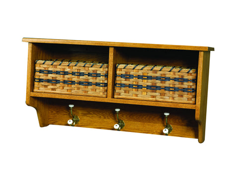Millwood Wall Shelf with Baskets