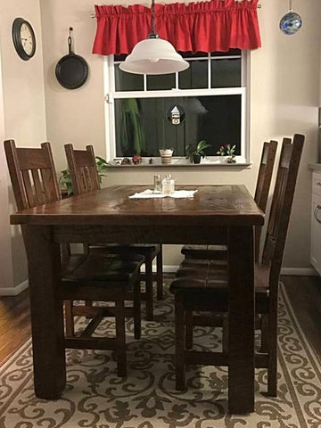 Barnwood Table with Rustic Barnwood Chairs