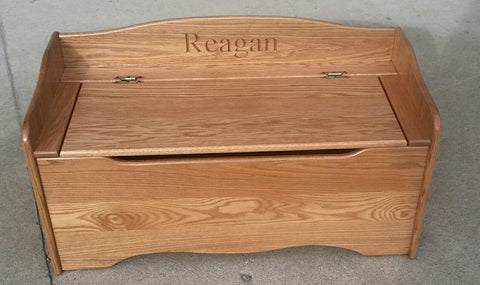 Oak Toybox with Engraved Name
