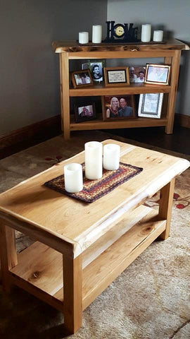 Rustic Hickory and Aspen Tables