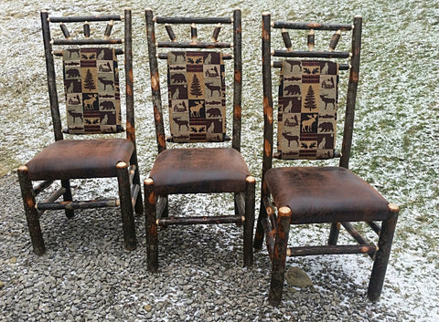 Upholstered Hickory Highback Dining Chairs