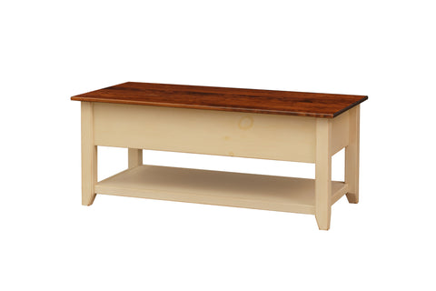 Pine Coffee Table with Lift Top