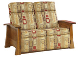 Millwood Craftsman Mission 88 Wallhugger Love Seat Recliner