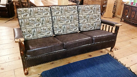 Rustic Hickory Couch