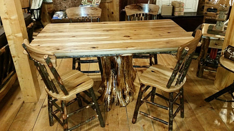 Rustic Hickory Stump Table