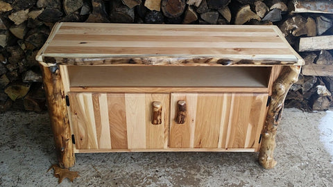 "Rustic Hickory and Aspen 48"" Tv Stand"