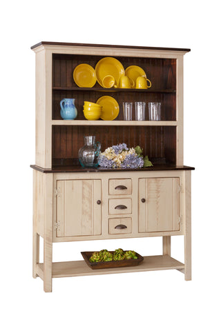 Pine Sideboard Hutch