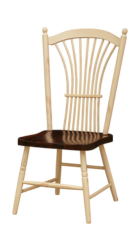 Pine Wheat Back Side Chair