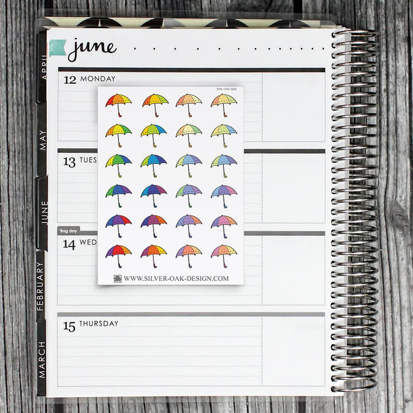 Umbrella Planner Stickers | ITM-063