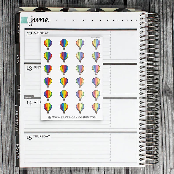 Hot Air Balloon Planner Stickers | ITM-028