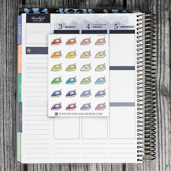 Clothes Iron Planner Stickers | ITM-023