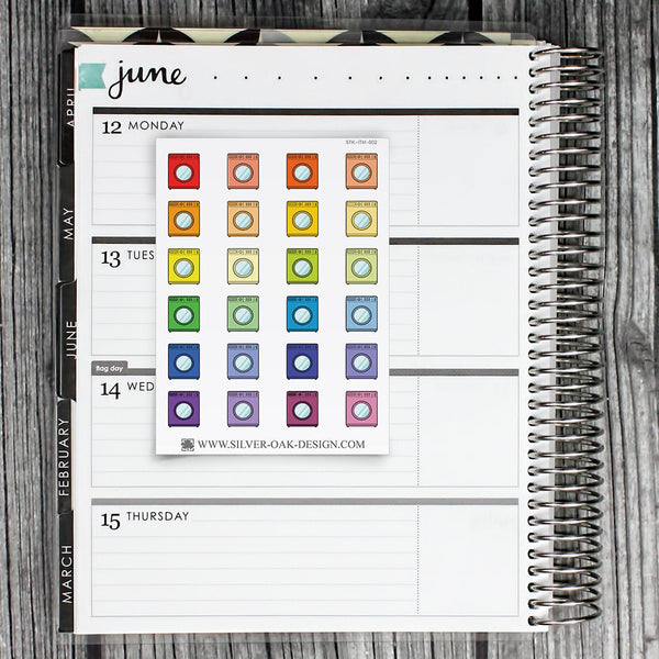 Washing Machine Planner Stickers | ITM-002