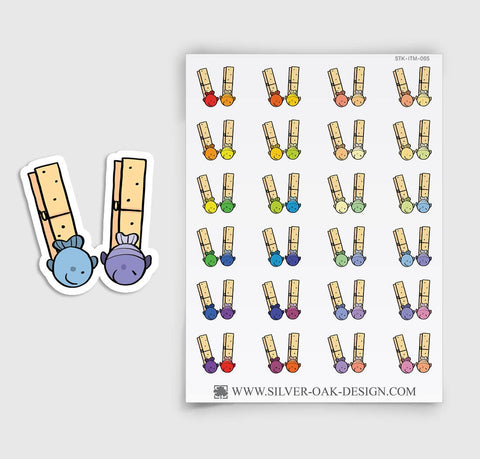 Clothes Pin Planner Stickers | ITM-065