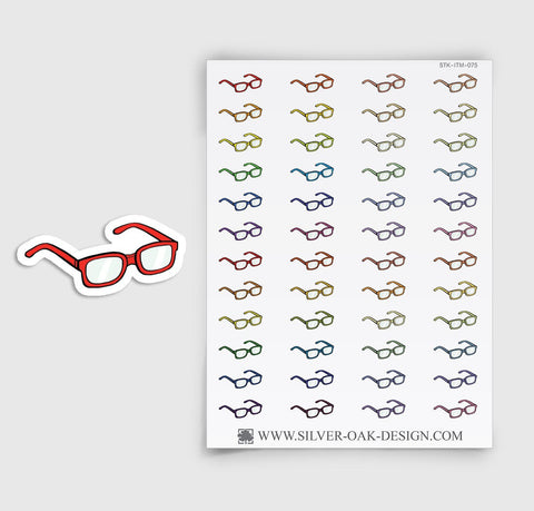 Eye Glasses Planner Stickers | ITM-075