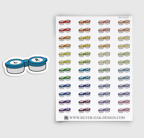 Contact Lens Planner Stickers | ITM-077