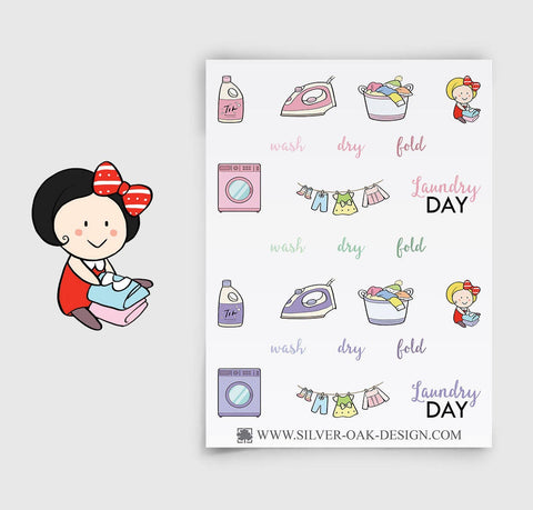 Laundry Day Planner Stickers | GRL-062