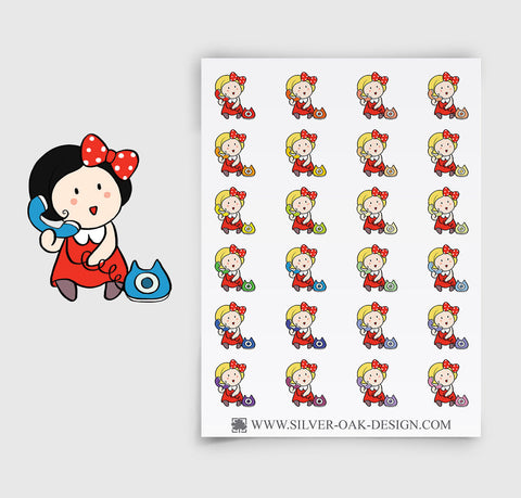 Telephone Planner Stickers | GRL-056