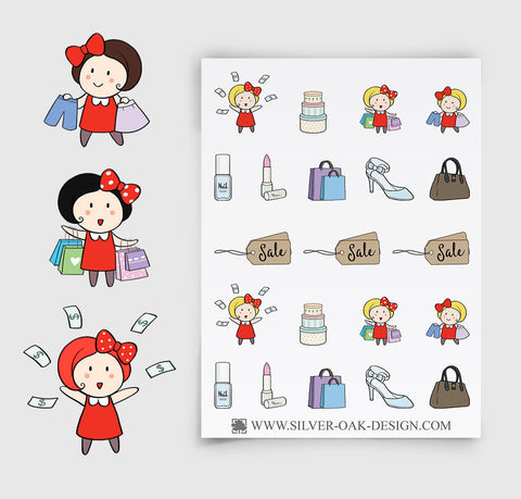 Shopping Spree / Sale Reminder Planner Stickers | GRL-053