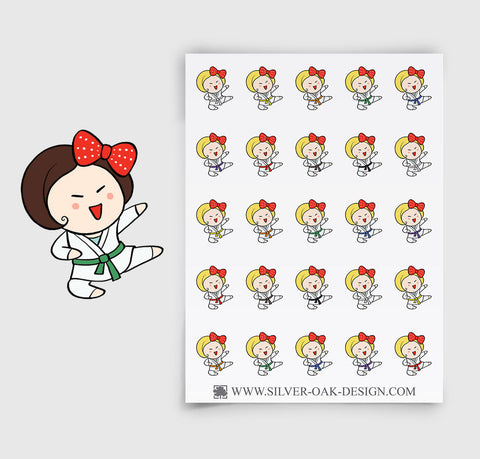 Martial Arts Planner Stickers | GRL-048