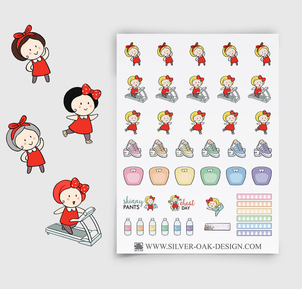 Exercise Planner Stickers | GRL-027