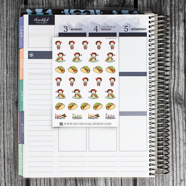 Taco Planner Stickers | GRL-019