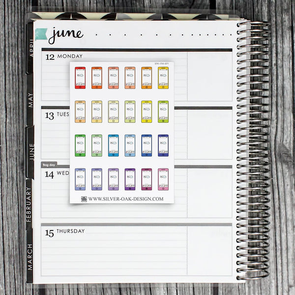 Cellphone Planner Stickers | ITM-071