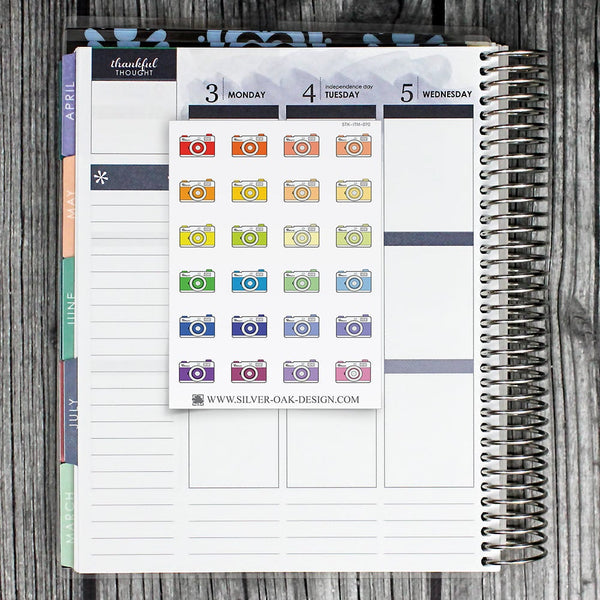 Camera Planner Stickers | ITM-070