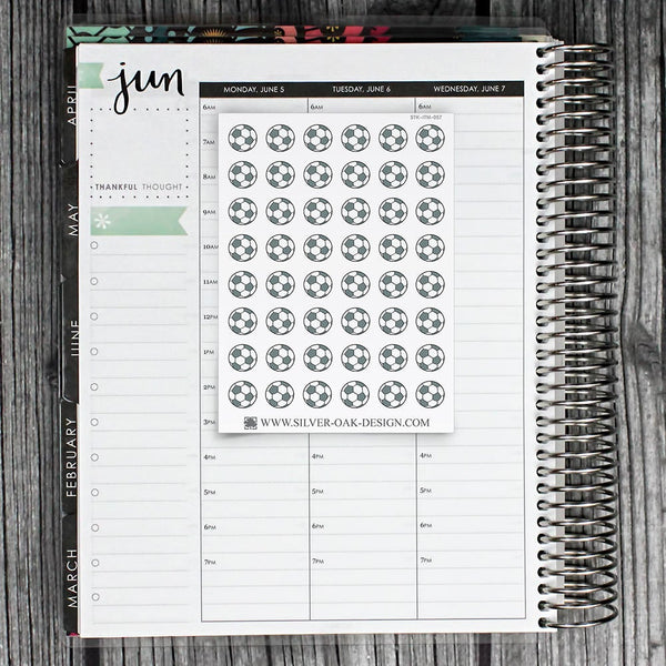 Soccer Ball Planner Stickers | ITM-057