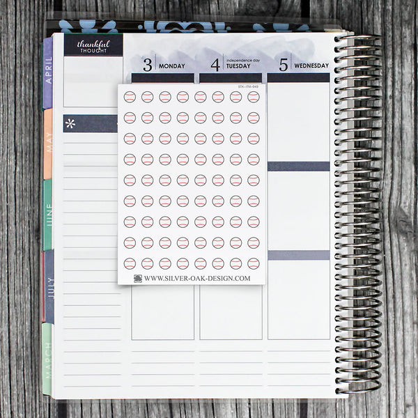 Baseball Planner Stickers | ITM-049