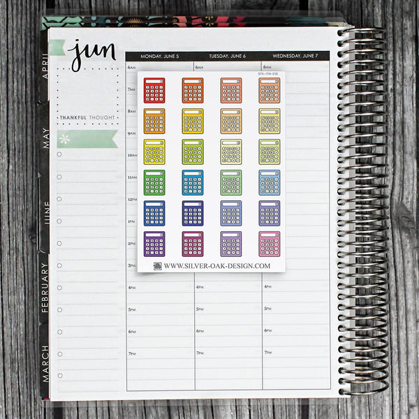 Calculator Planner Stickers | ITM-010