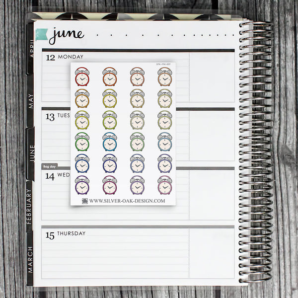 Alarm Clock Planner Stickers | ITM-007