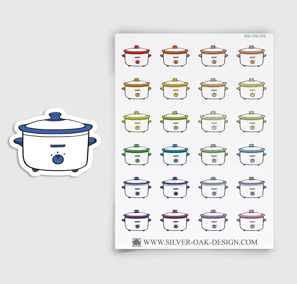 Crock pot Planner Stickers | ITM-073