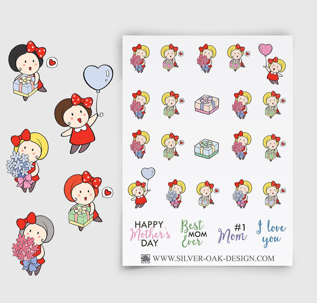 Mother's Day Planner Stickers | 063