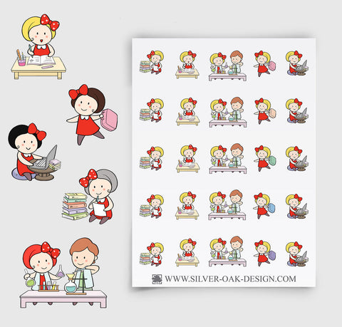 School Planner Stickers | GRL-028