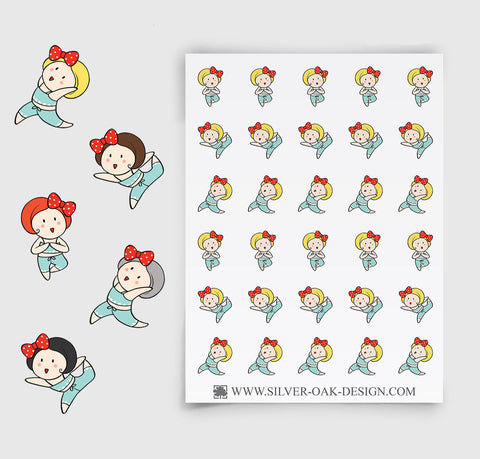 Yoga Planner Stickers | GRL-026