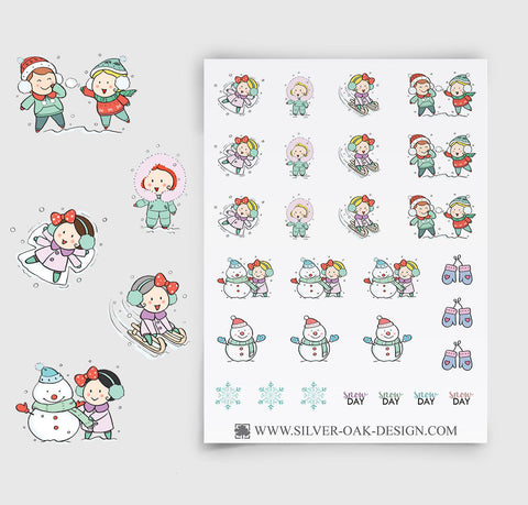 Snow Day Planner Stickers | GRL-010