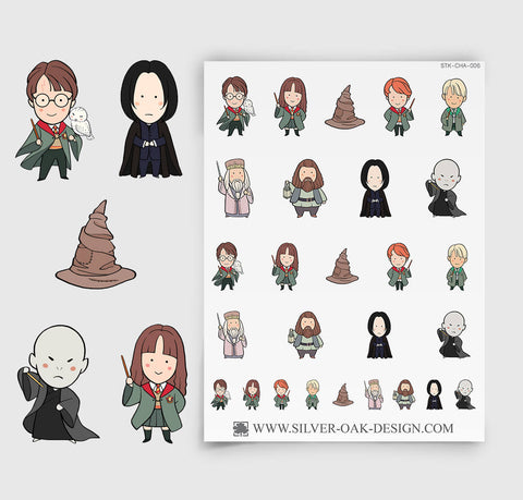 Wizards and Witches Parody Movie Planner Stickers | CHA-006