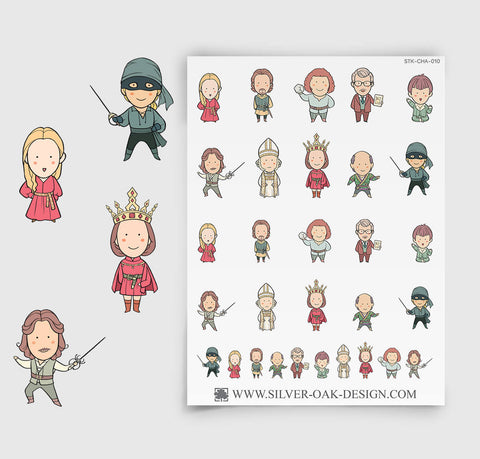 Princess and the Pirate Movie Planner Stickers | CHA-010