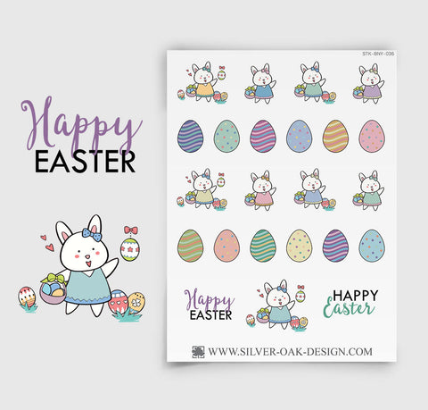 Easter Planner Stickers | Bunny Rabbit | BNY-036